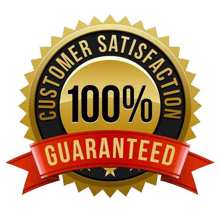100 percent satisfaction gurantee